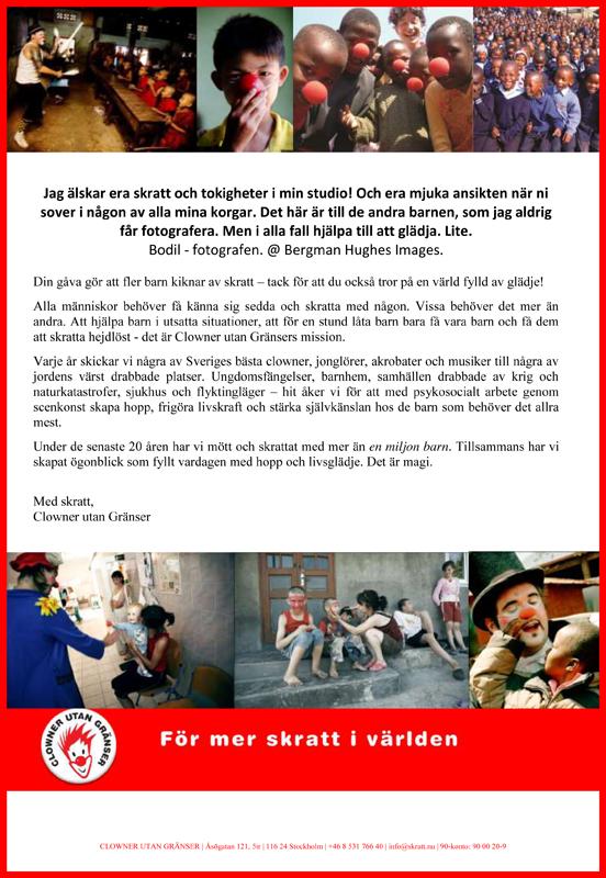 Clowner utan gränser - tackbrev
