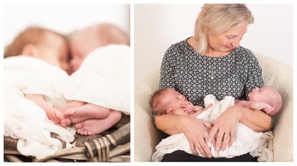 Tvillingar hos nyföddfotograf Bergman Hughes Images i Stockholm