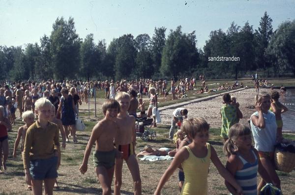 familjebadets sandstrand 70-tal