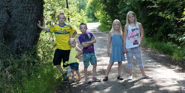 barnen på landet - foto Bodil Bergman Hughes