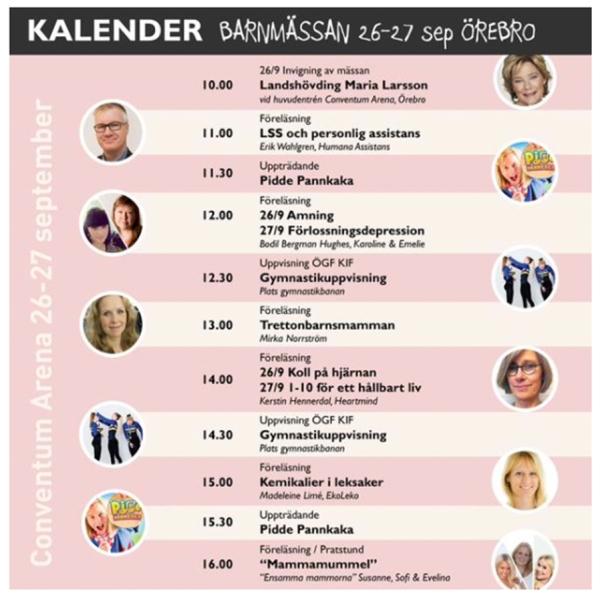 scenprogram Älskade Ungar 2015