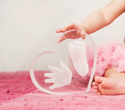 glasfot och hand